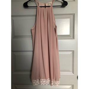 Boutique Blush & Ivory Lace Dress- Size XS